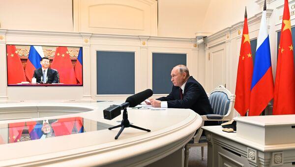 Tổng thống Liên bang Nga V.Putin hội đàm với Chủ tịch nước Cộng hòa Nhân dân Trung Hoa Tập Cận Bình - Sputnik Việt Nam