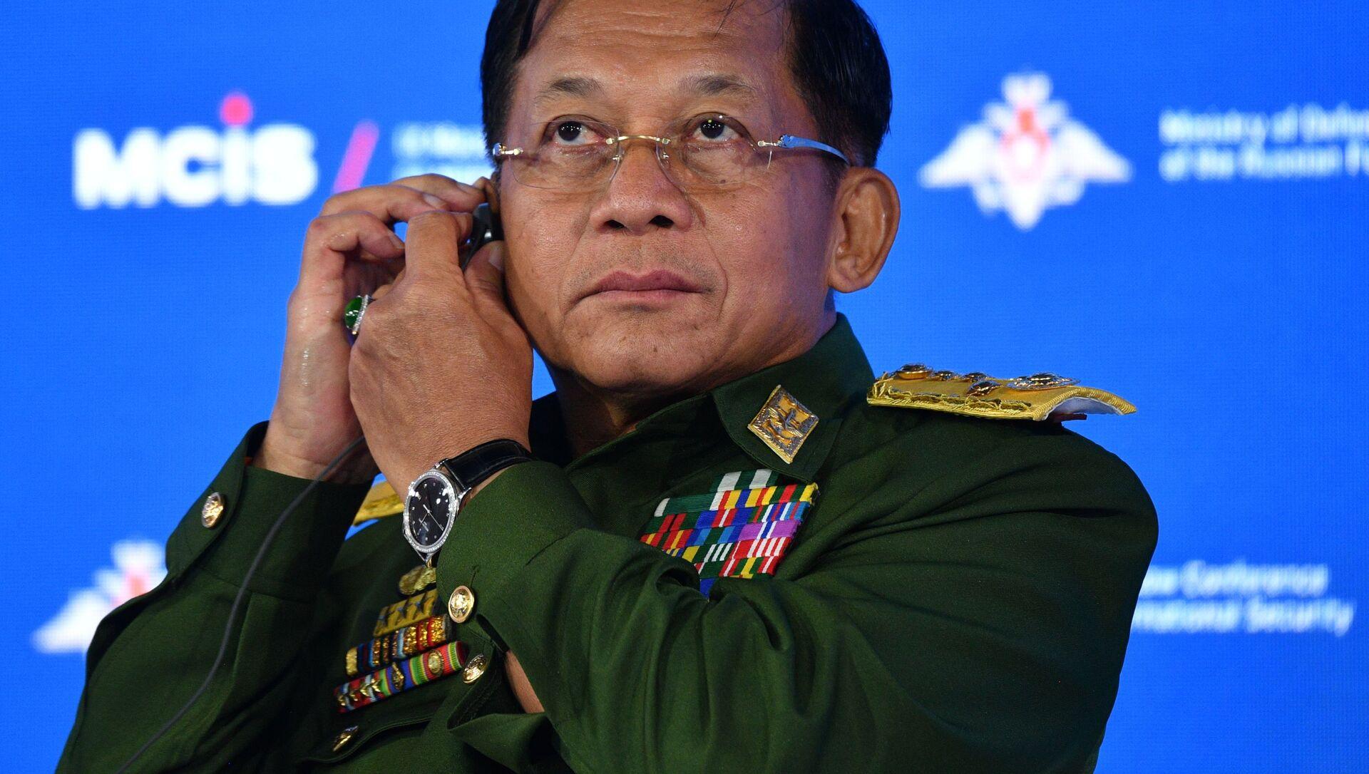 Lãnh đạo quân đội Myanmar, Chủ tịch Hội đồng Hành chính Nhà nước kiêm Tổng Tư lệnh Các lực lượng Vũ trang, Thượng tướng Min Aung Hline - Sputnik Việt Nam, 1920, 28.06.2021