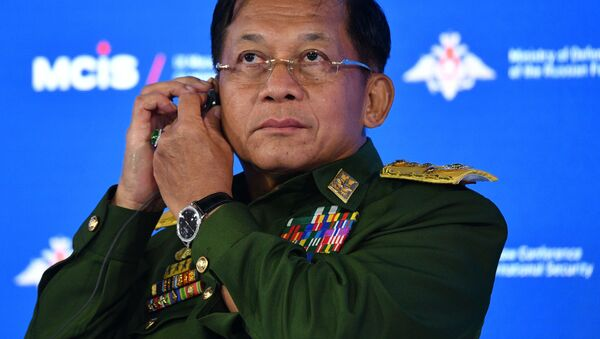 Lãnh đạo quân đội Myanmar, Chủ tịch Hội đồng Hành chính Nhà nước kiêm Tổng Tư lệnh Các lực lượng Vũ trang, Thượng tướng Min Aung Hline - Sputnik Việt Nam