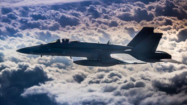 Máy bay chiến đấu F-18 của Phần Lan trong cuộc tập trận Ramstein Alloy của NATO. - Sputnik Việt Nam