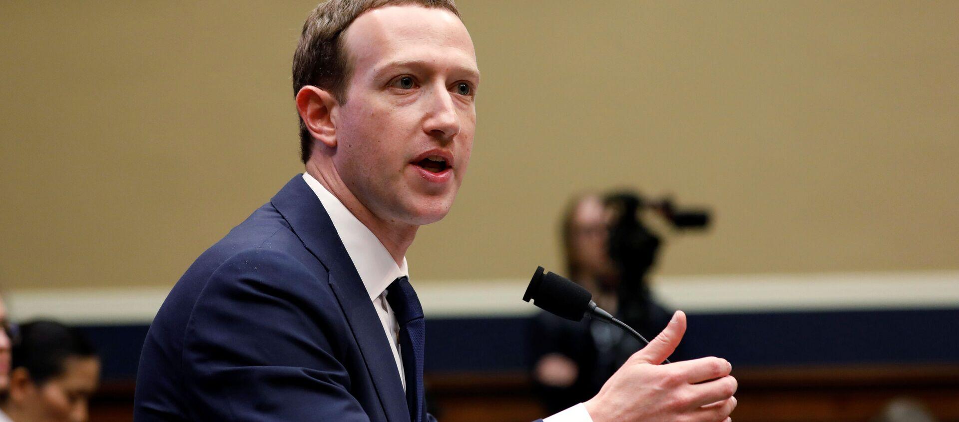 Mark Zuckerberg. - Sputnik Việt Nam, 1920, 30.06.2021