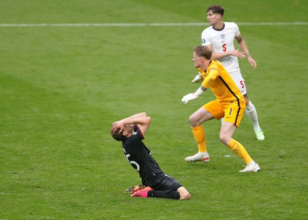 Các cầu thủ Đức và Anh trong trận đấu UEFA EURO 2020 - Sputnik Việt Nam