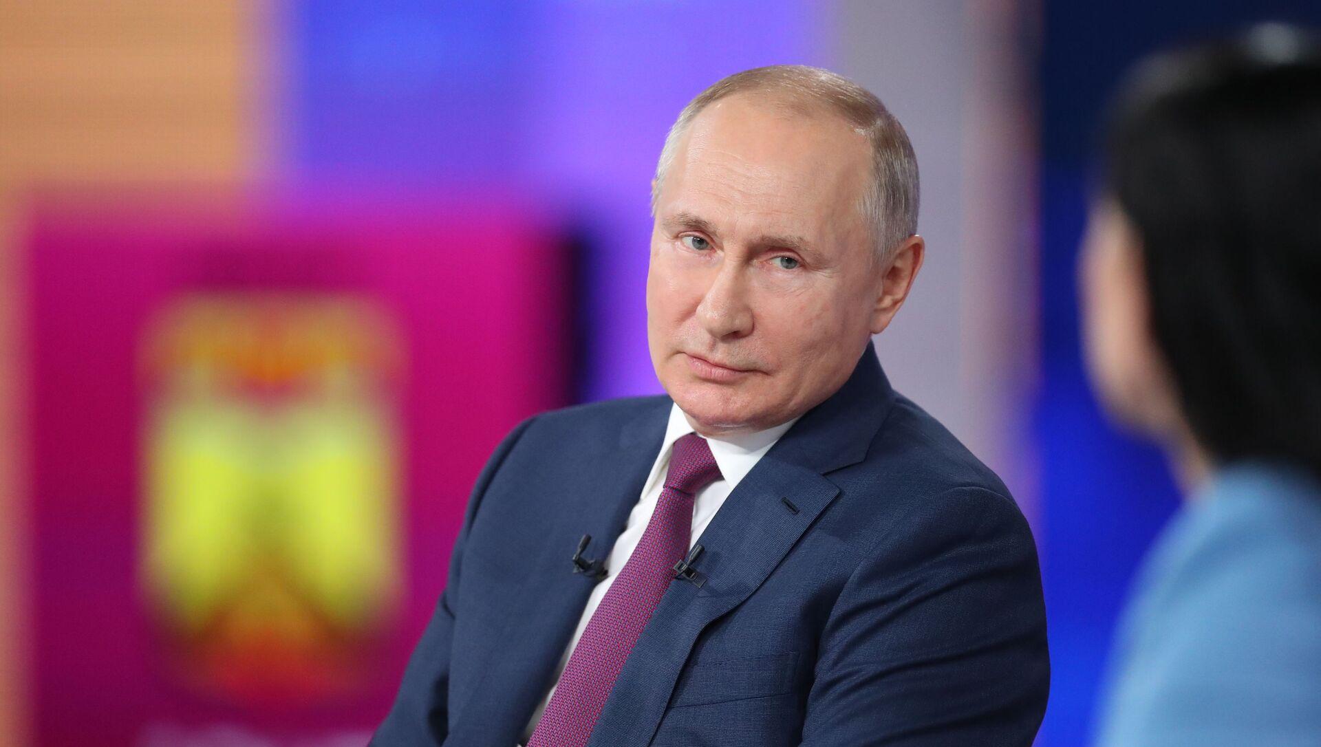 Giao lưu trực tuyến với Tổng thống Nga Vladimir Putin 2021. - Sputnik Việt Nam, 1920, 30.06.2021