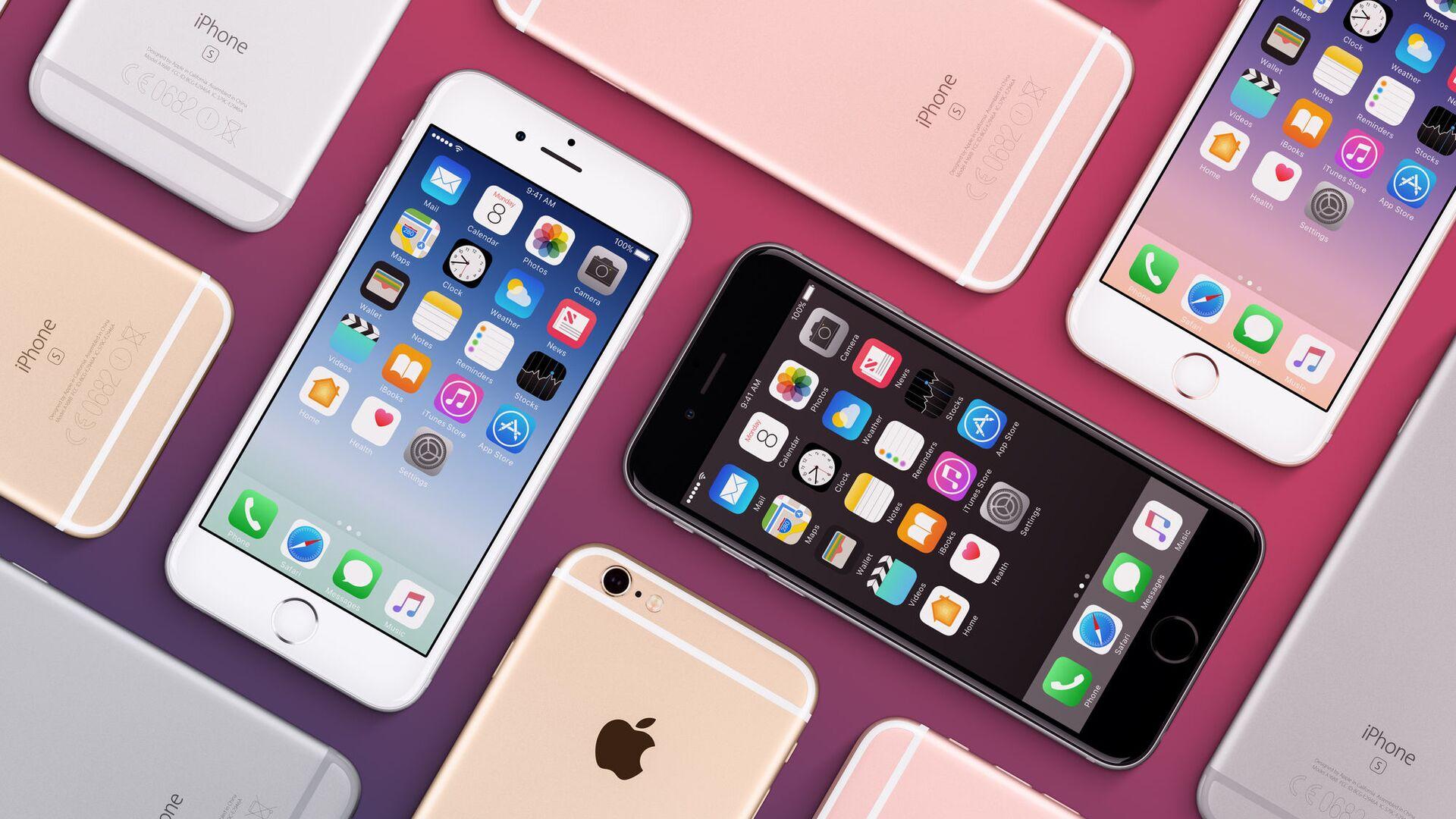Bộ iPhone 6s các màu khác nhau của Apple - Sputnik Việt Nam, 1920, 13.10.2021