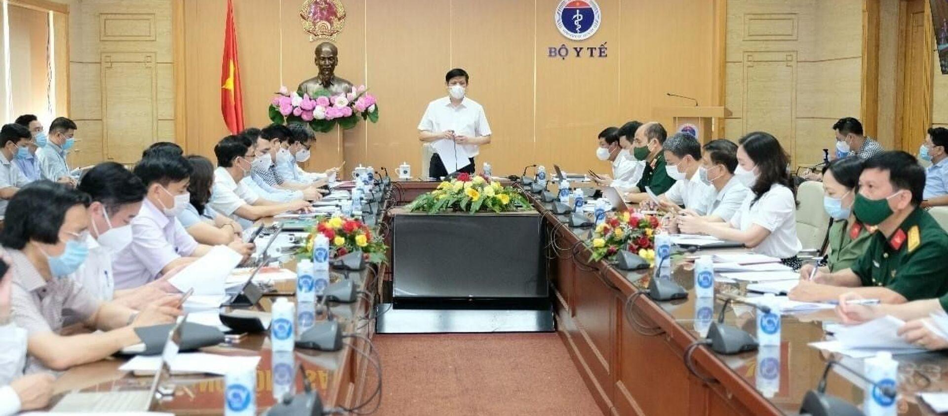 Cuộc họp Ban Chỉ đạo triển khai chiến dịch tiêm vaccine phòng COVID-19 năm 2021 - 2022 chiều ngày 02/07 - Sputnik Việt Nam, 1920, 02.07.2021