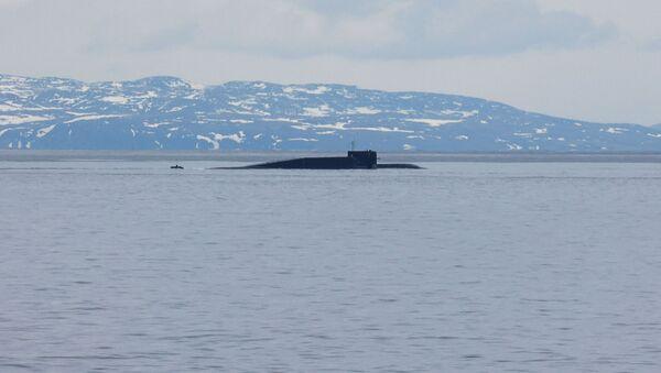 Tàu ngầm hạt nhân Novomoskovsk trong cuộc tập trận ở biển Barents - Sputnik Việt Nam
