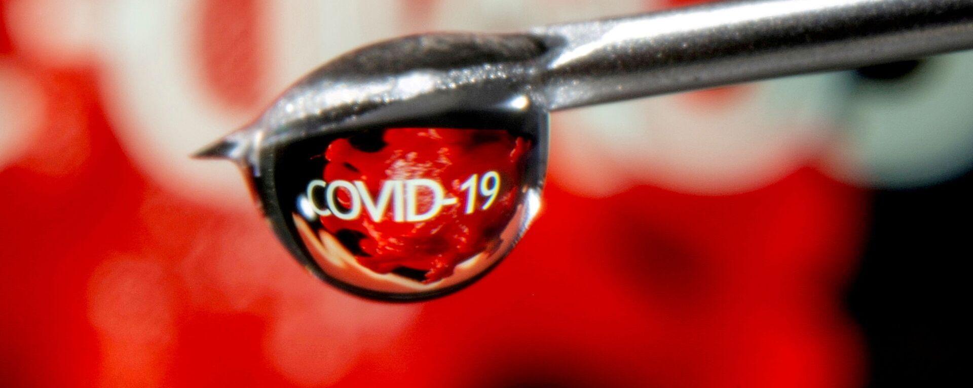Từ COVID-19 phản ánh trong một giọt ở đầu ống kim tiêm - Sputnik Việt Nam, 1920, 02.07.2021