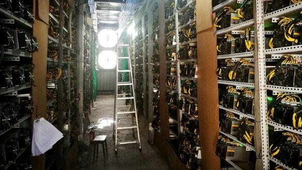 Máy đào bitcoin trong trang trại bitcoin ở Tứ Xuyên, Trung Quốc - Sputnik Việt Nam