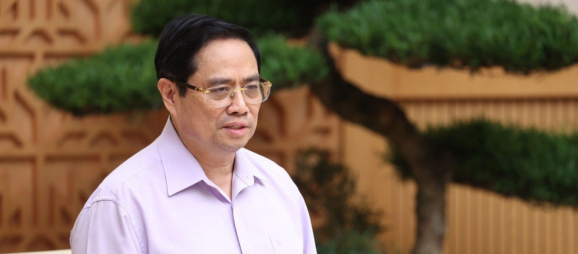 Thủ tướng Chính phủ Phạm Minh Chính kết luận phiên họp trực tuyến Chính phủ. - Sputnik Việt Nam, 1920, 02.07.2021