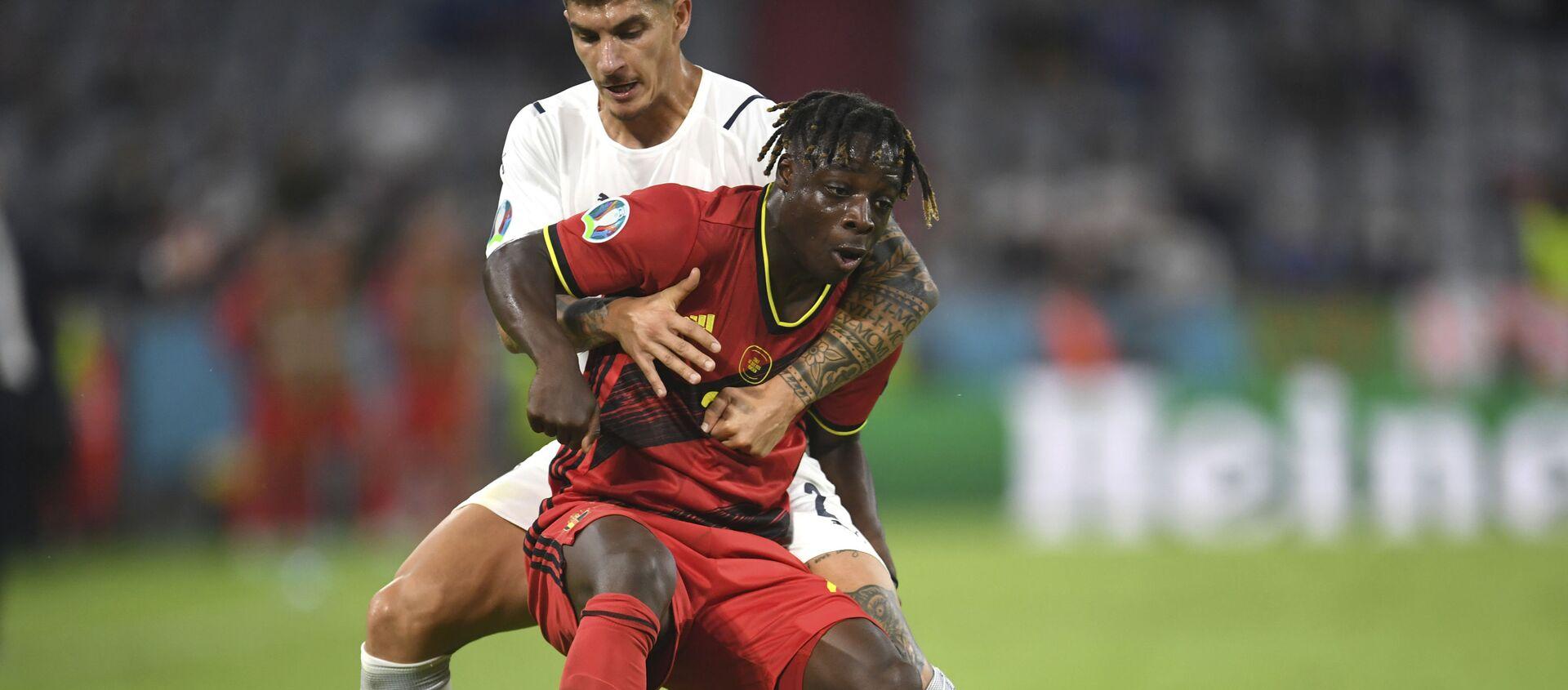 Trận đấu giữa đội tuyển quốc gia Bỉ và Ý tại Euro 2020 - Sputnik Việt Nam, 1920, 03.07.2021