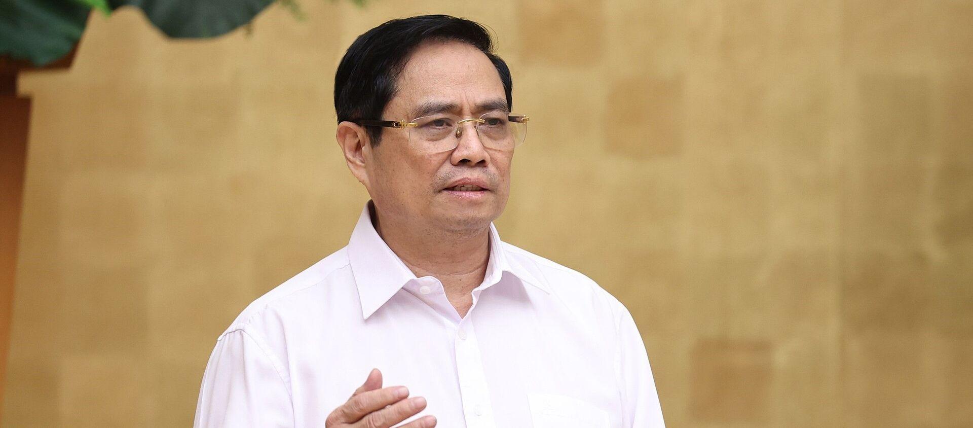 Thủ tướng Phạm Minh Chính phát biểu kết luận cuộc họp - Sputnik Việt Nam, 1920, 04.07.2021