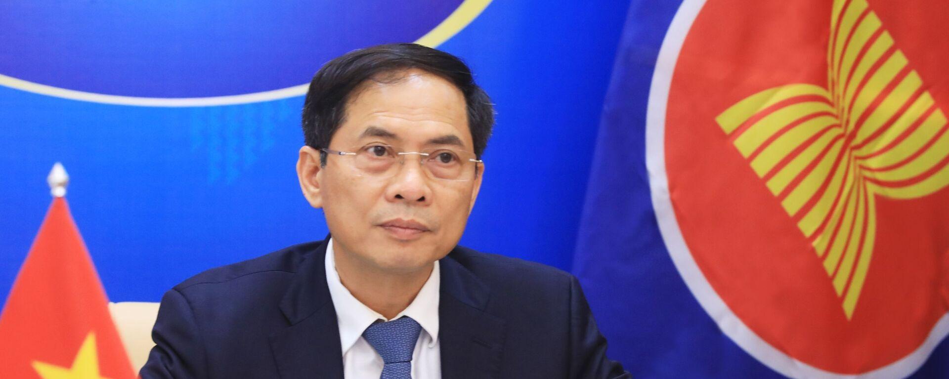Bộ trưởng Bộ Ngoại giao Bùi Thanh Sơn dự Hội nghị Bộ trưởng Ngoại giao đặc biệt ASEAN - Nga - Sputnik Việt Nam, 1920, 07.07.2021