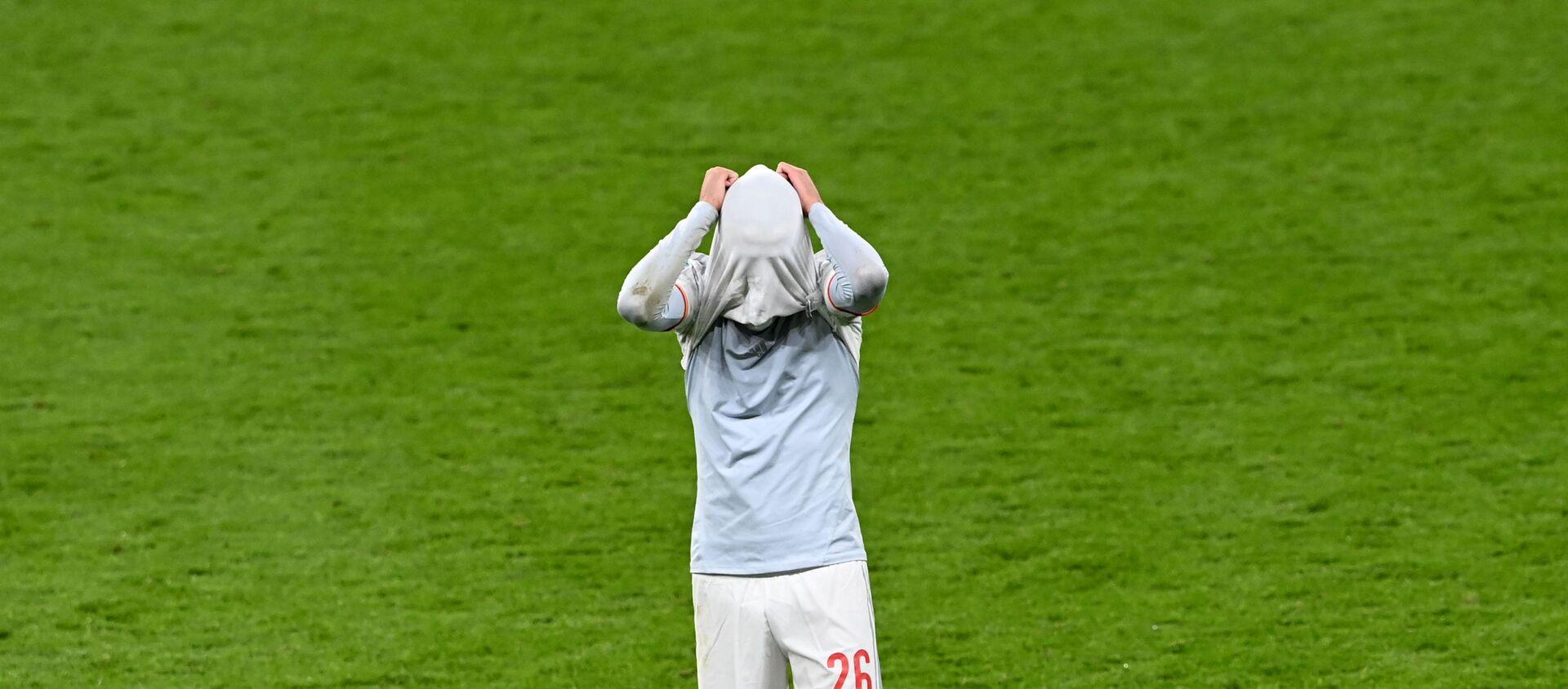 Cầu thủ Pedri trong trận Ý- Tây Ban Nha ở vòng bán kết EURO 2020 trên sân vận động Wembley, London - Sputnik Việt Nam, 1920, 07.07.2021