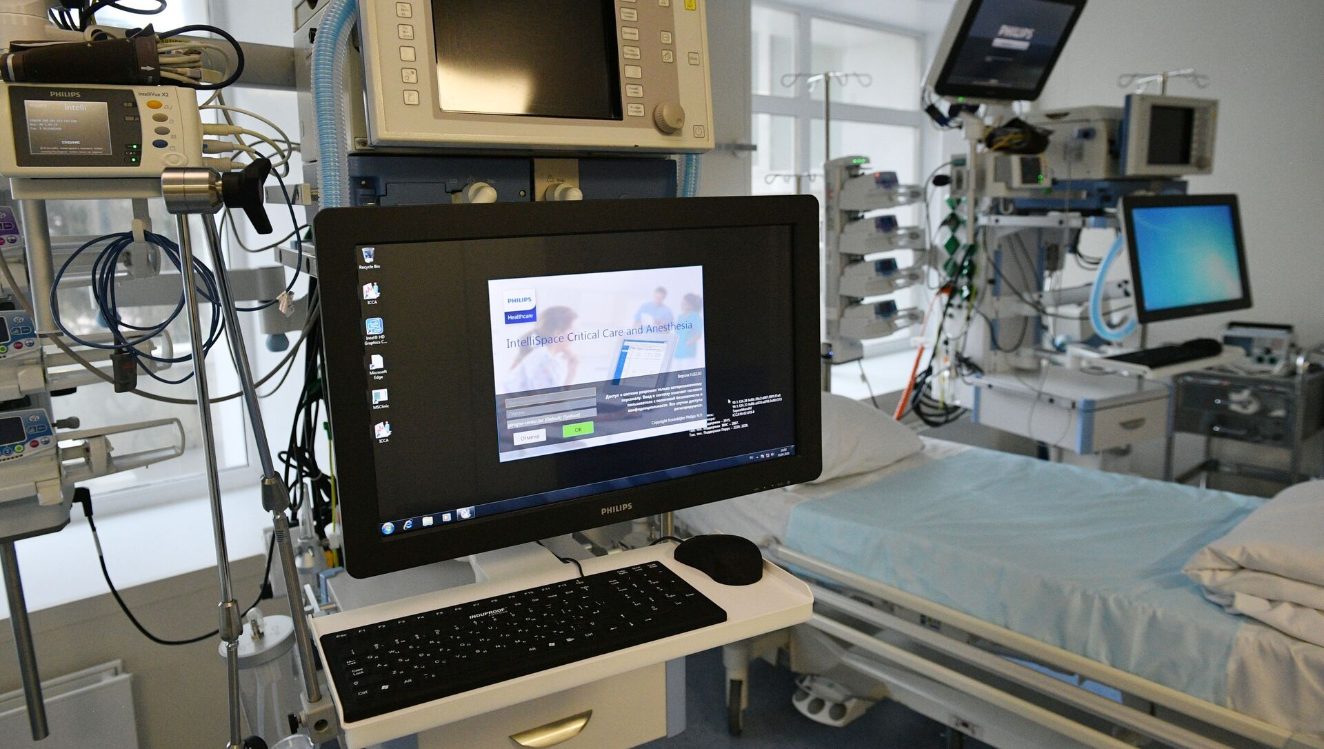 Trong bệnh viện của Trung tâm Quốc gia mang tên Pirogov, được lập ra để tiếp nhận bệnh nhân COVID - Sputnik Việt Nam, 1920, 07.07.2021