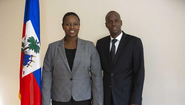 Tổng thống Haiti Jovenel Moise với phu nhân Martine - Sputnik Việt Nam