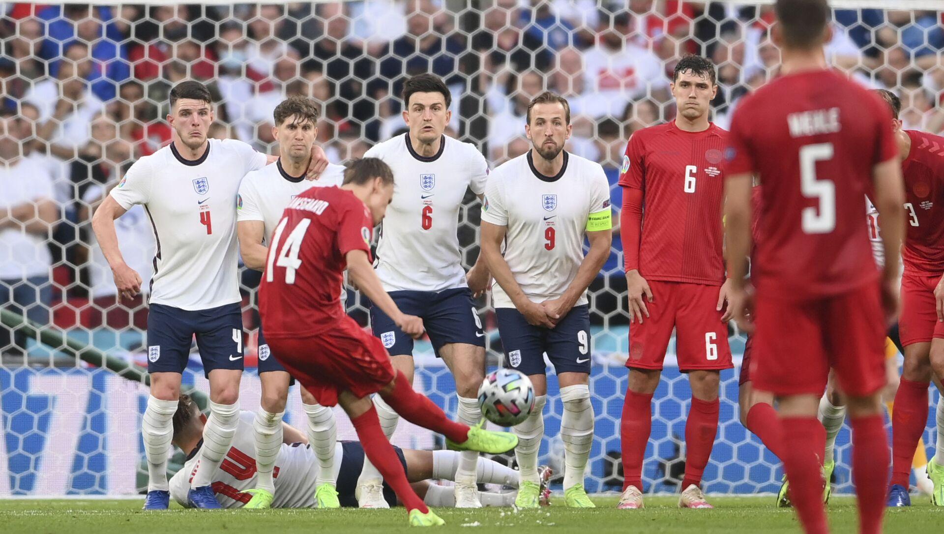 Trận bán kết EURO 2020 giữa tuyển Anh và Đan Mạch - Sputnik Việt Nam, 1920, 08.07.2021