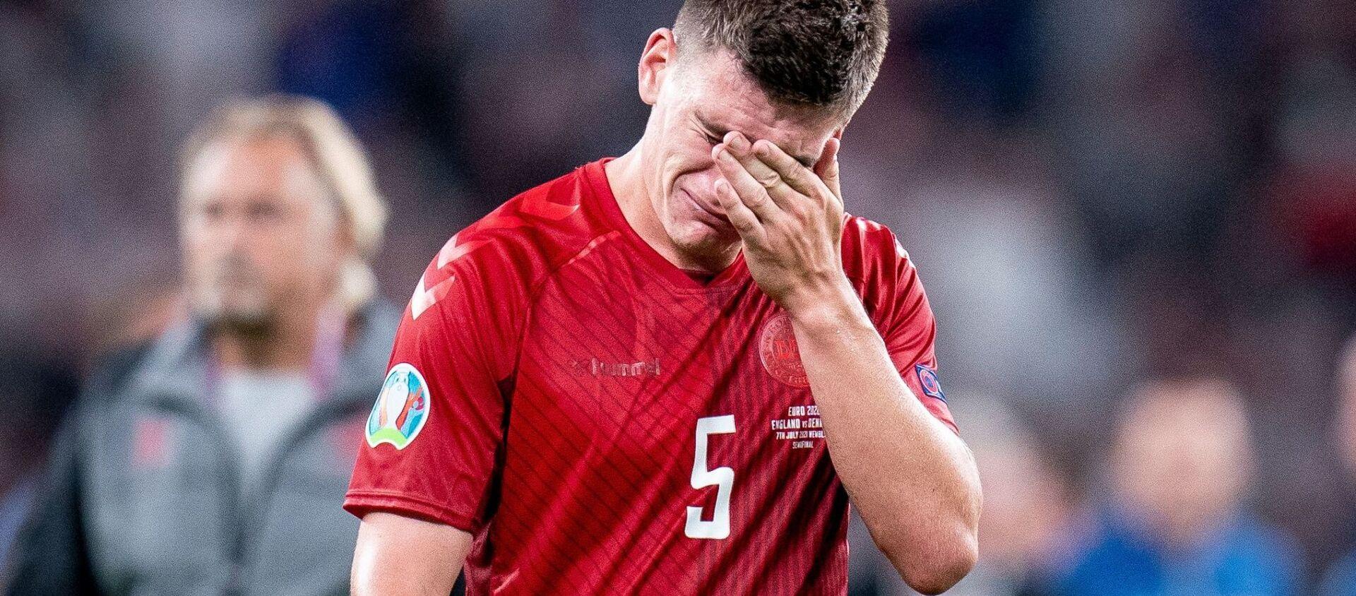 Cầu thủ Đan Mạch sau trận thua bán kết Euro 2020 - Sputnik Việt Nam, 1920, 08.07.2021