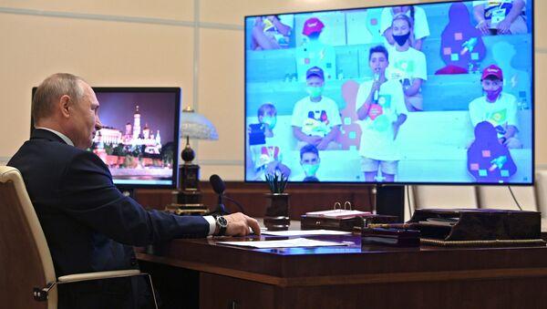 Tổng thống Nga V.Putin gặp gỡ các thí sinh lọt vào vòng chung kết cuộc thi Thay đổi lớn - Sputnik Việt Nam