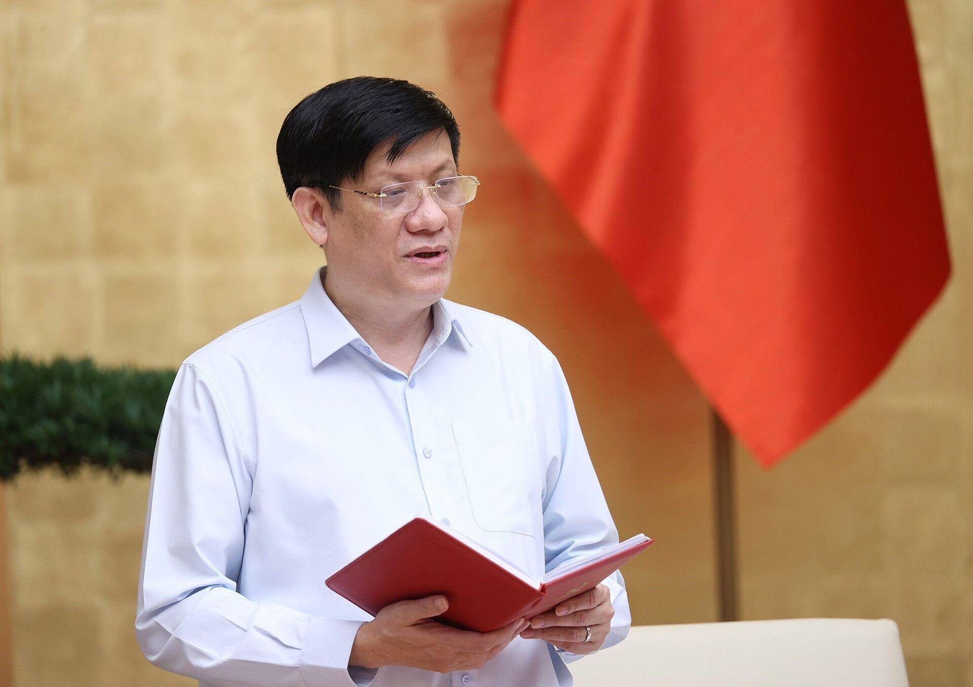 Bộ trưởng Bộ Y tế Nguyễn Thanh Long báo cáo tình hình, diễn biến dịch COVID-19 tại Thành phố Hồ Chí Minh. - Sputnik Việt Nam, 1920, 05.10.2021