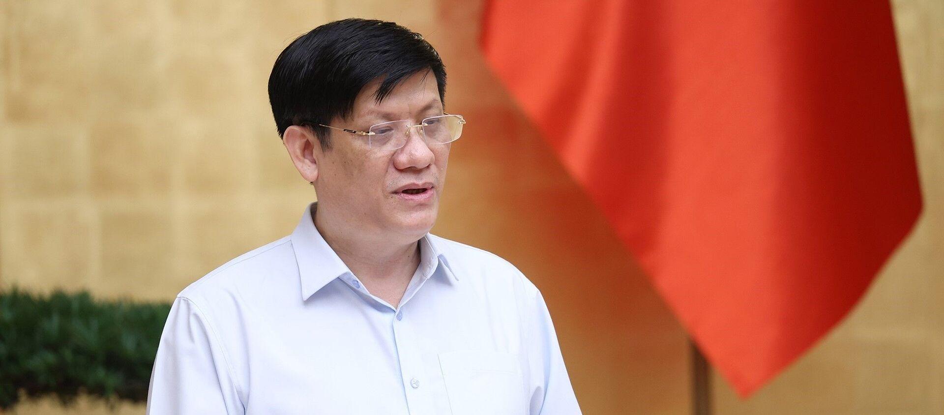 Bộ trưởng Bộ Y tế Nguyễn Thanh Long báo cáo tình hình, diễn biến dịch COVID-19 tại Thành phố Hồ Chí Minh. - Sputnik Việt Nam, 1920, 27.08.2021