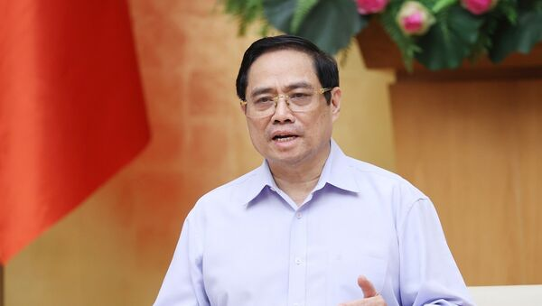 Thủ tướng Phạm Minh Chính nhấn mạnh, việc đi đến quyết định thực hiện Chỉ thị 16 với TP Hồ Chí Minh là khó khăn nhưng cần thiết và phù hợp lúc này. - Sputnik Việt Nam
