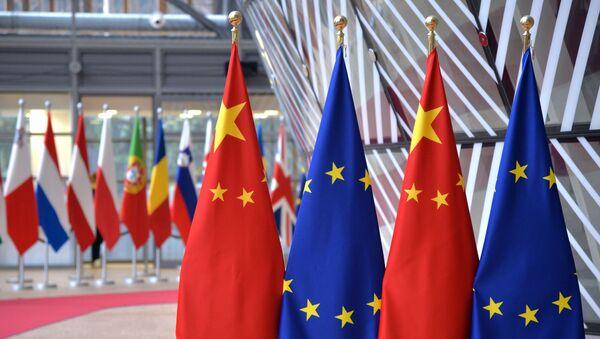Cờ của Liên minh Châu Âu và CHND Trung Hoa - Sputnik Việt Nam