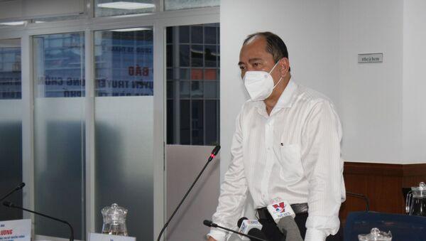 Ông Lê Hòa Bình, Phó Chủ tịch UBND Thành phố Hồ Chí Minh phát biểu tại cuộc họp - Sputnik Việt Nam