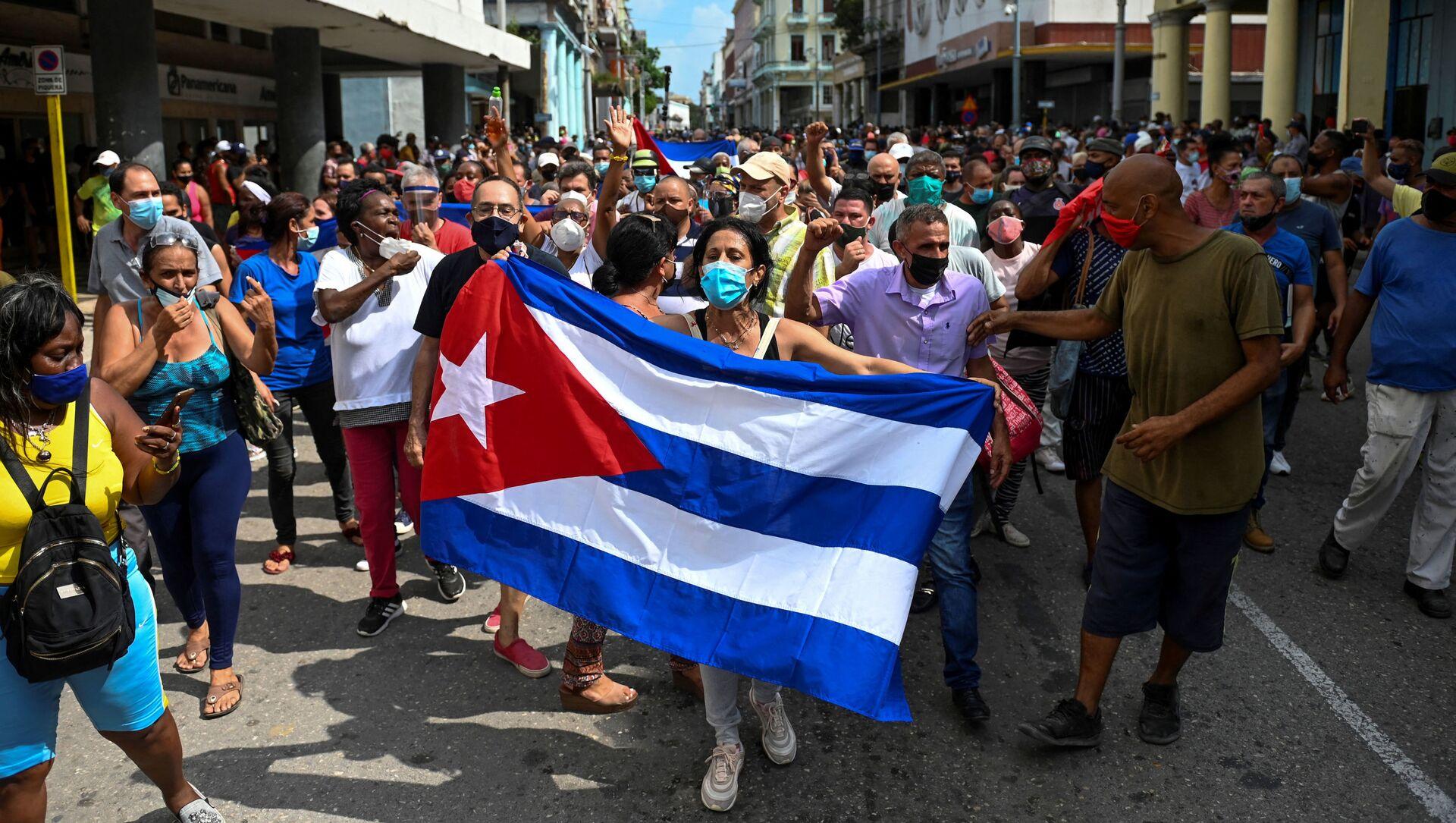Biểu tình chống đối ở Havana - Sputnik Việt Nam, 1920, 14.07.2021