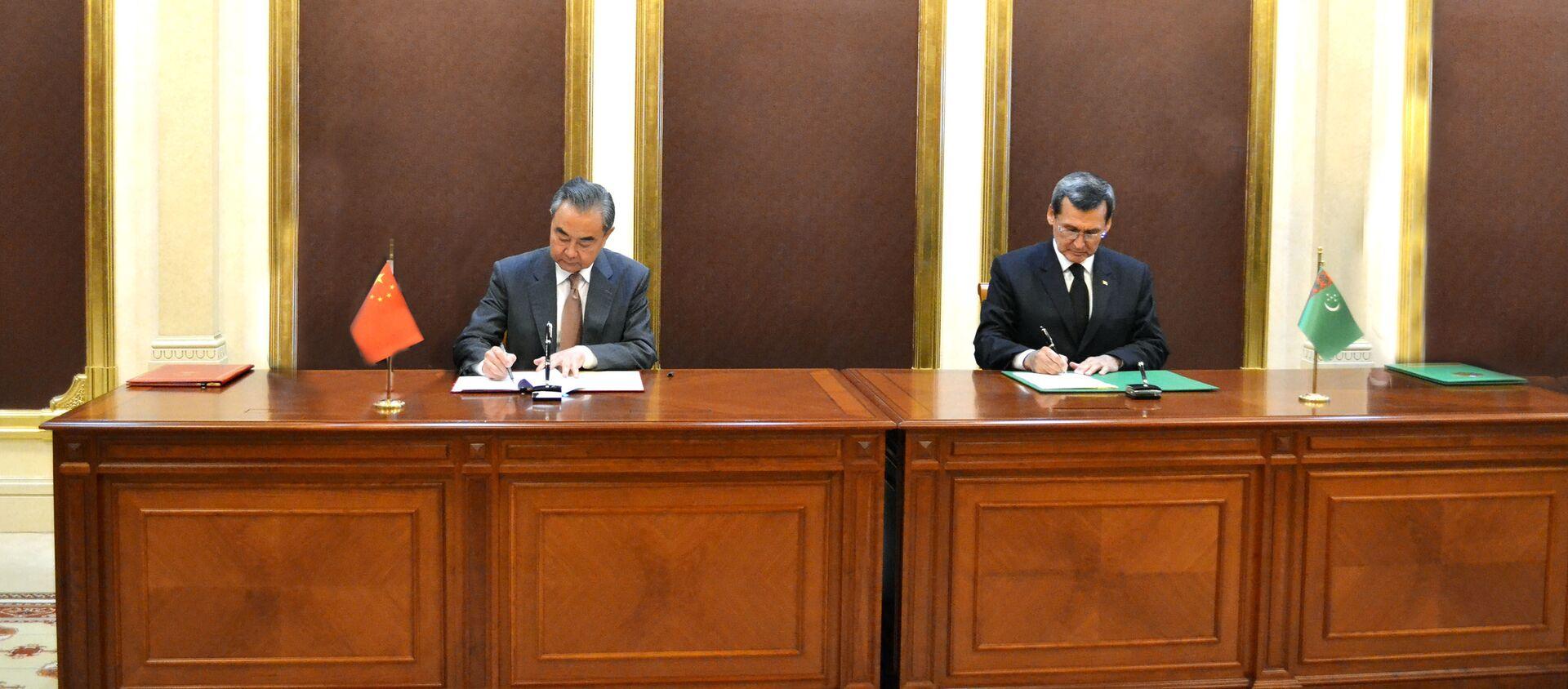 Chuyến thăm chính thức của Ngoại trưởng CHND Trung Hoa Vương Nghị đến CH Turkmenistan - Sputnik Việt Nam, 1920, 13.07.2021