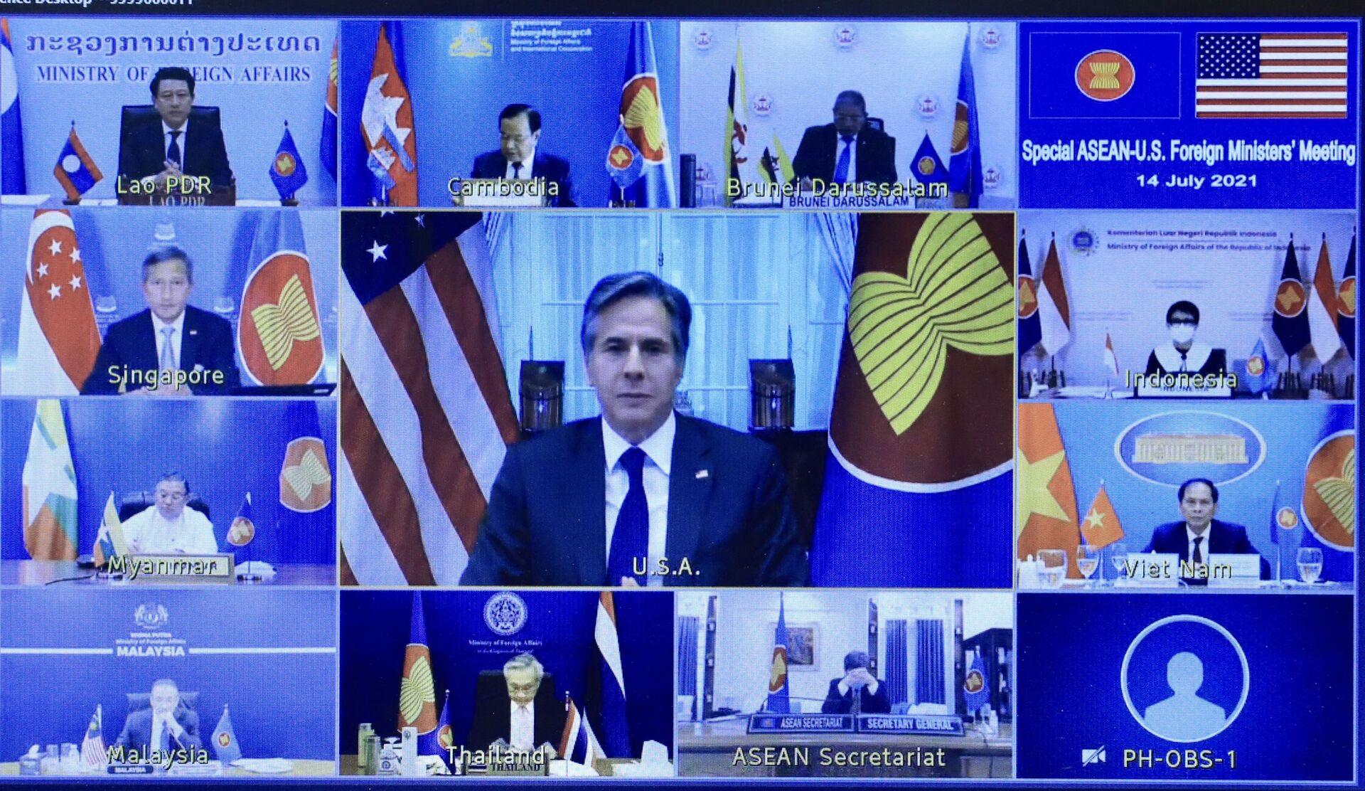 ASEAN- Mỹ họp về tình hình Myanmar và Biển Đông - Sputnik Việt Nam, 1920, 14.07.2021