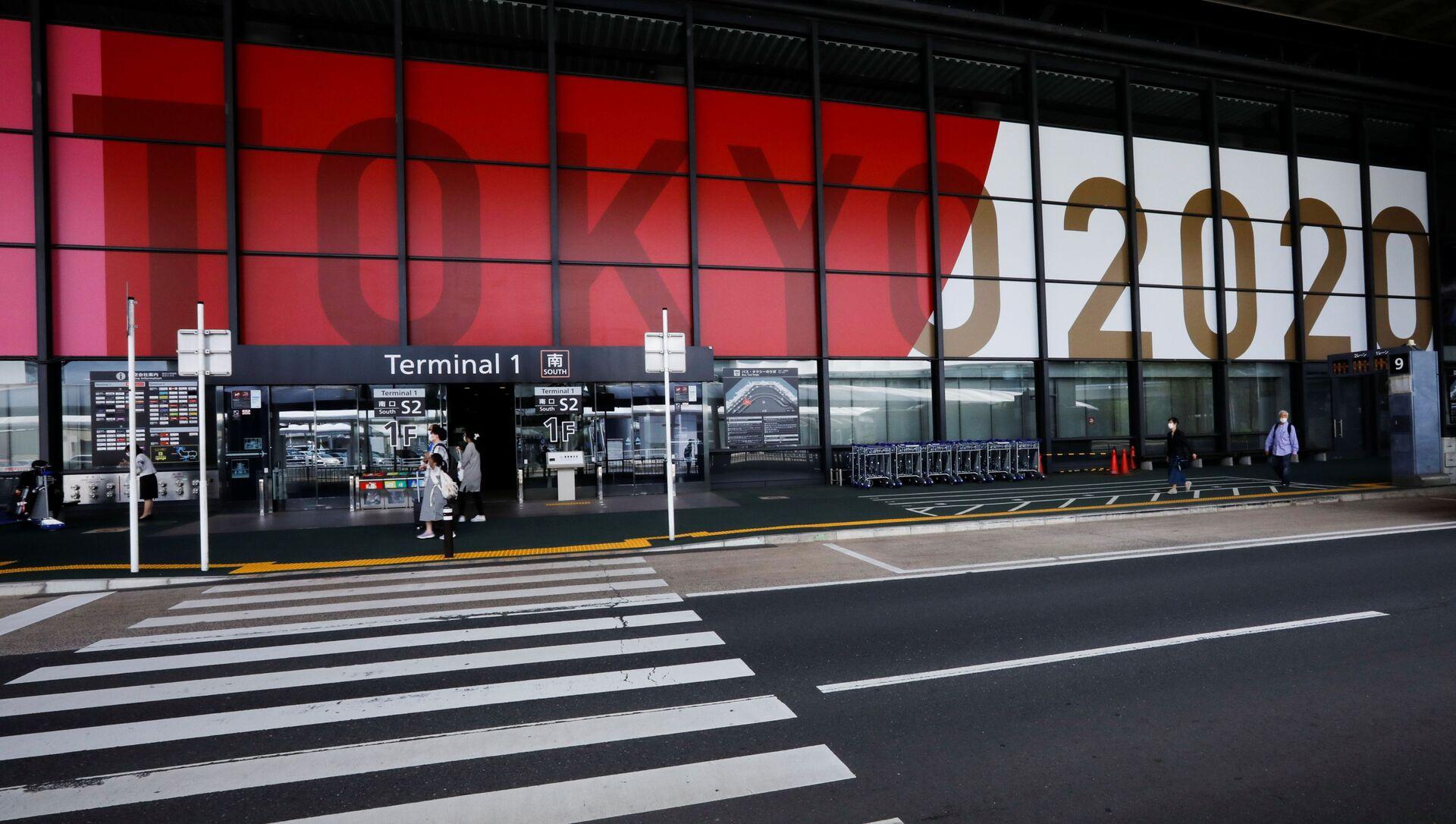 Quảng cáo cho Thế vận hội Olympic và Paralympic 2020 tại Sân bay Quốc tế Narita, Nhật Bản - Sputnik Việt Nam, 1920, 22.07.2021