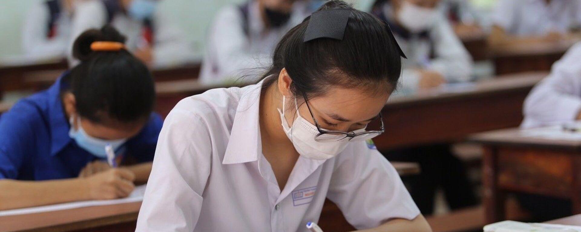 Kỳ thi Tốt nghiệp THPT năm 2021 tại Gia Lai kết thúc an toàn, nghiêm túc, đúng quy chế. - Sputnik Việt Nam, 1920, 14.07.2021