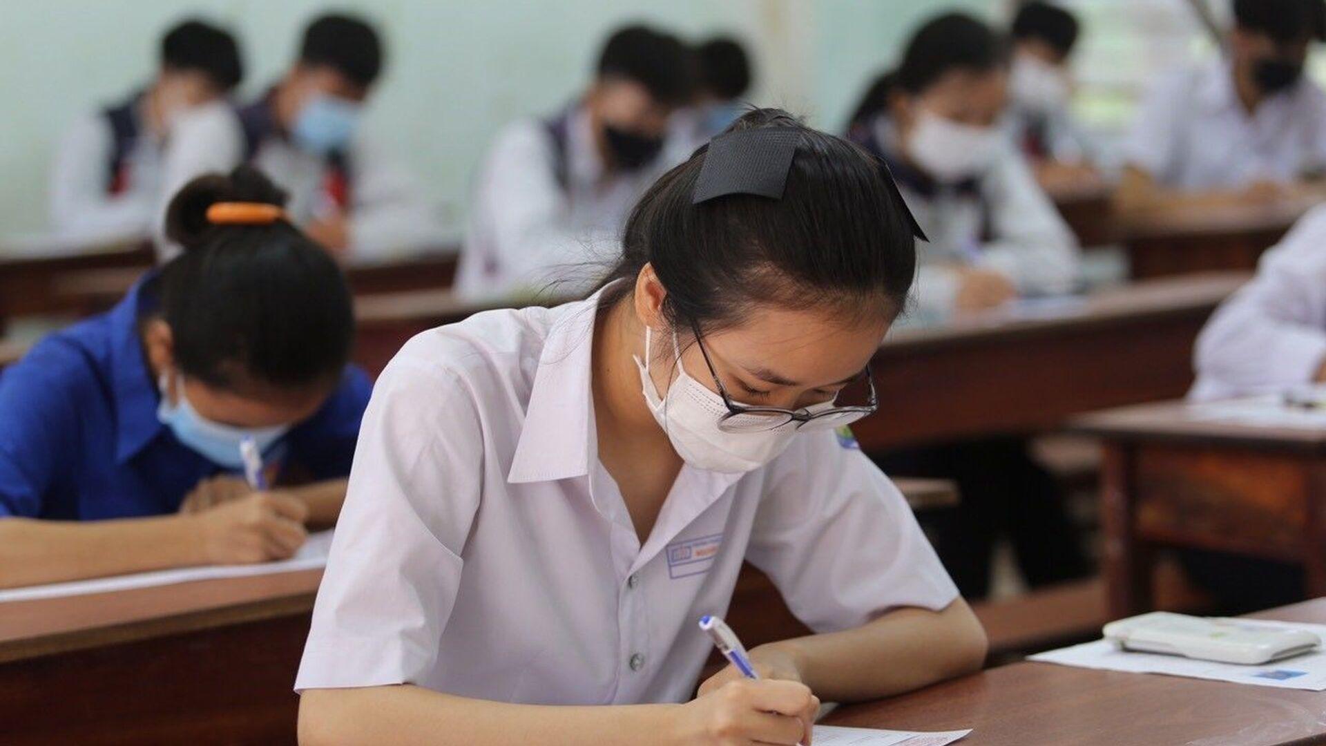 Kỳ thi Tốt nghiệp THPT năm 2021 tại Gia Lai kết thúc an toàn, nghiêm túc, đúng quy chế. - Sputnik Việt Nam, 1920, 31.08.2021