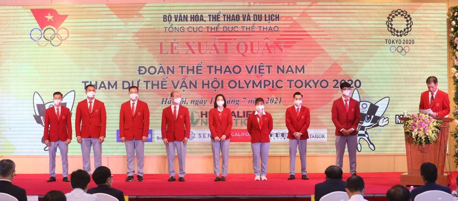 Lễ xuất quân Đoàn Thể thao Việt Nam dự Olympic Tokyo 2020 - Sputnik Việt Nam, 1920, 19.07.2021