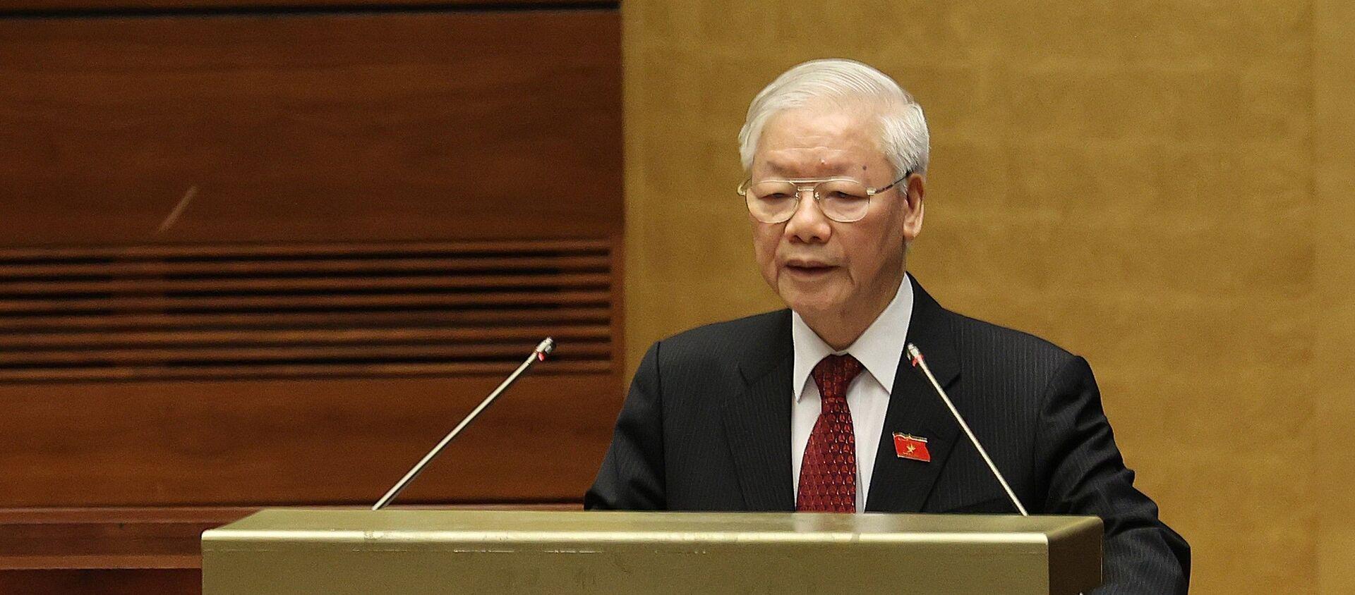 Tổng Bí thư Nguyễn Phú Trọng phát biểu tại Lễ khai mạc Kỳ họp thứ nhất, Quốc hội khóa XV - Sputnik Việt Nam, 1920, 03.08.2021