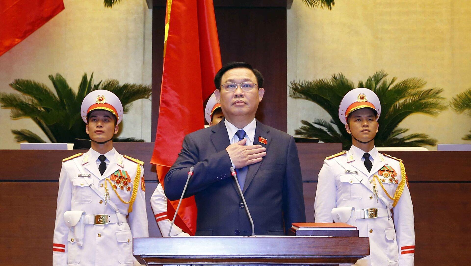 Đồng chí Vương Đình Huệ tuyên thệ nhậm chức Chủ tịch Quốc hội khóa XV. - Sputnik Việt Nam, 1920, 20.07.2021