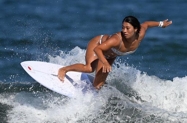 Mahina Maeda tập luyện trước cuộc thi tại Thế vận hội mùa hè XXXII ở Tokyo - Sputnik Việt Nam