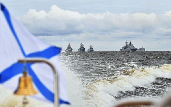 Lễ duyệt binh kỷ niệm Ngày Hải quân Liên bang Nga - Sputnik Việt Nam