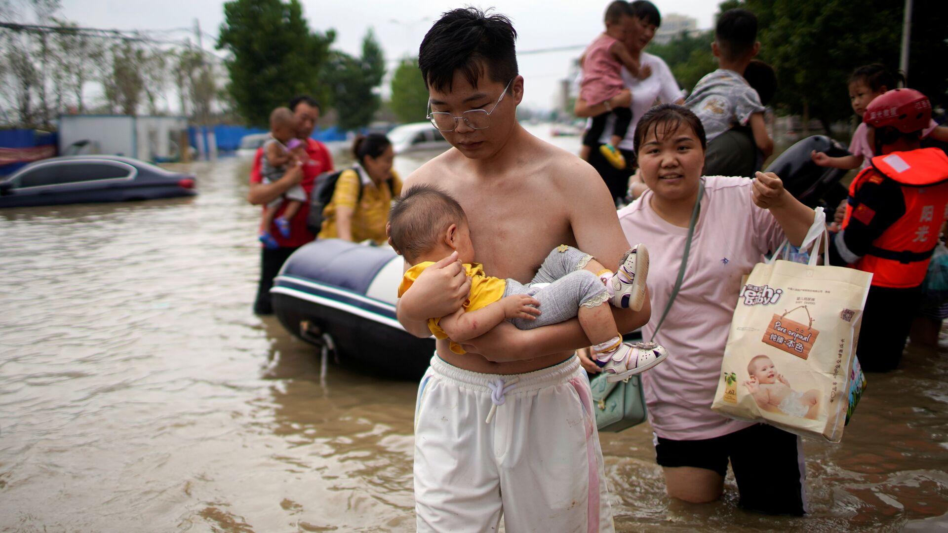 Lũ lụt ở tỉnh Hà Nam, Trung Quốc - Sputnik Việt Nam, 1920, 05.08.2021