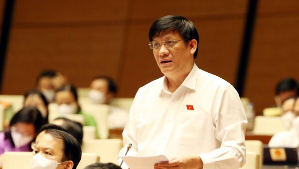 Bộ trưởng Bộ Y tế Nguyễn Thanh Long phát biểu - Sputnik Việt Nam