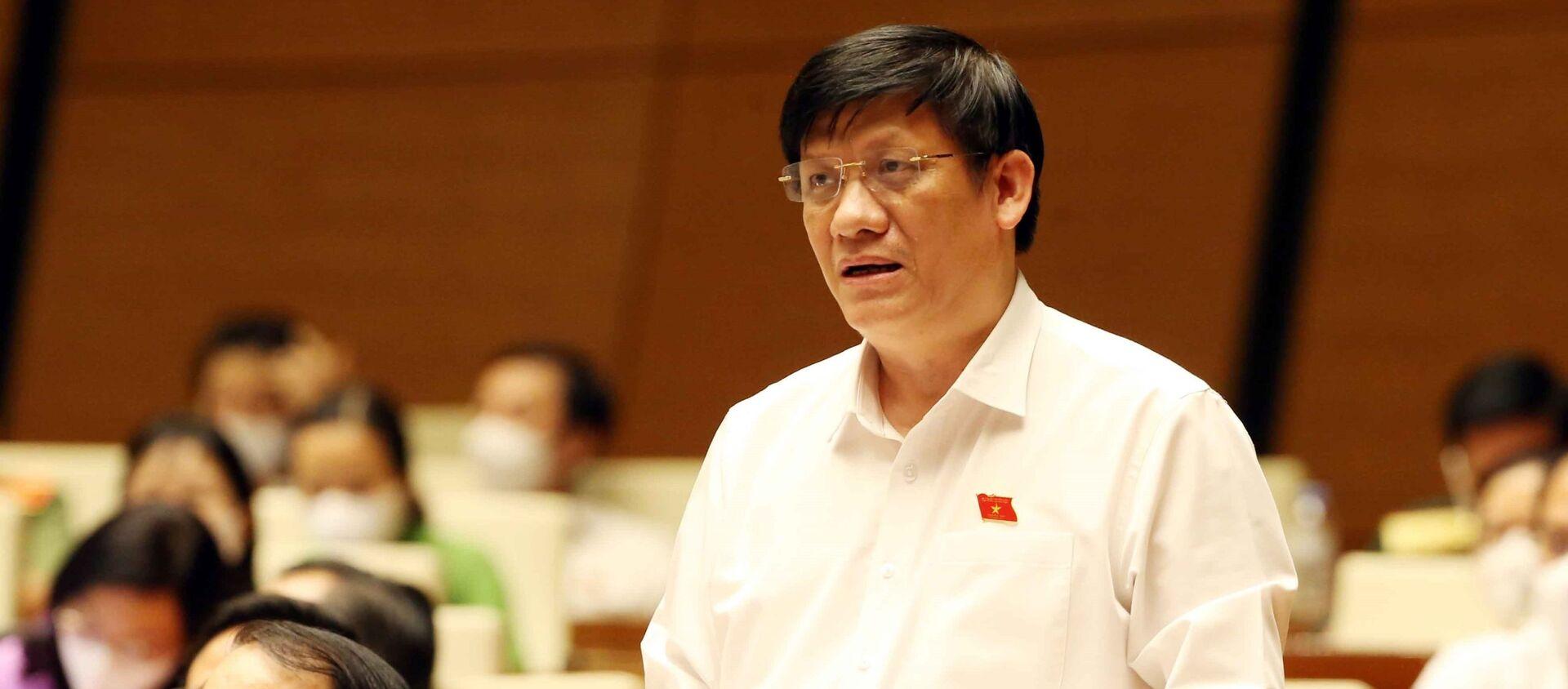 Bộ trưởng Bộ Y tế Nguyễn Thanh Long phát biểu - Sputnik Việt Nam, 1920, 30.07.2021