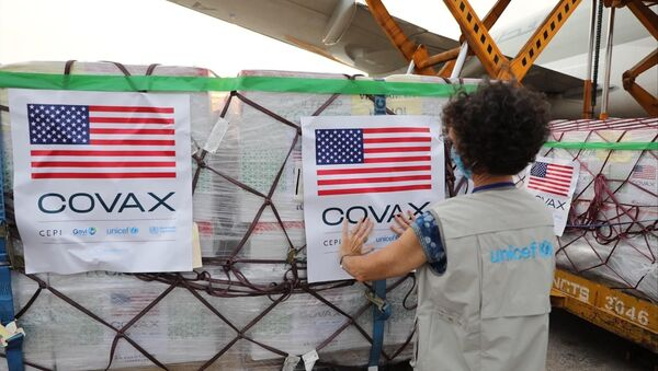 Chiều tối 25/7, chiếc máy bay chở hơn 1,5 triệu liều vaccine Moderna phòng COVID-19 đáp xuống Sân bay Quốc tế Nội Bài - Sputnik Việt Nam
