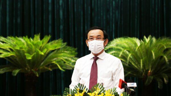 Bí thư Thành ủy Thành phố Hồ Chí Minh Nguyễn Văn Nên phát biểu tại Kỳ họp. - Sputnik Việt Nam