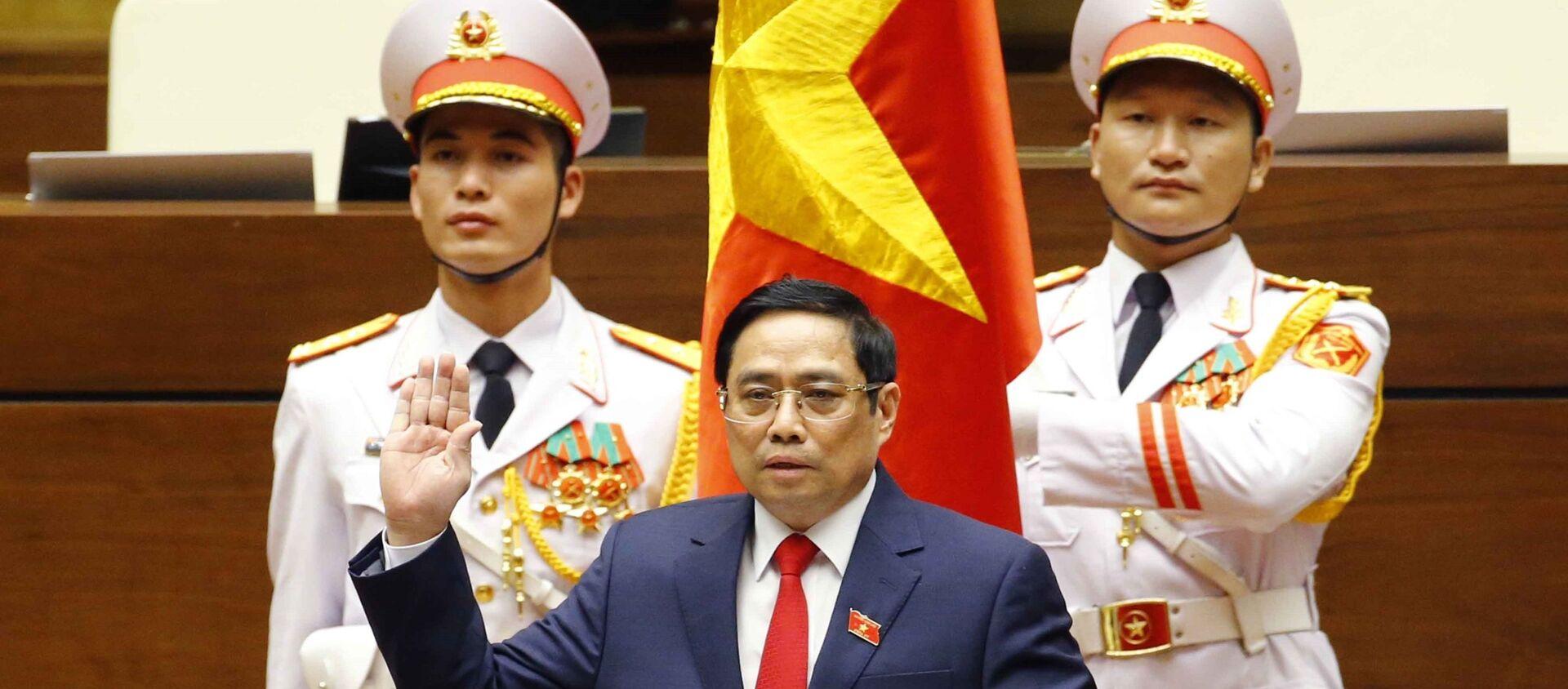 Đồng chí Phạm Minh Chính nhậm chức Thủ tướng Chính phủ nước Cộng hòa Xã hội chủ nghĩa Việt Nam - Sputnik Việt Nam, 1920, 26.07.2021