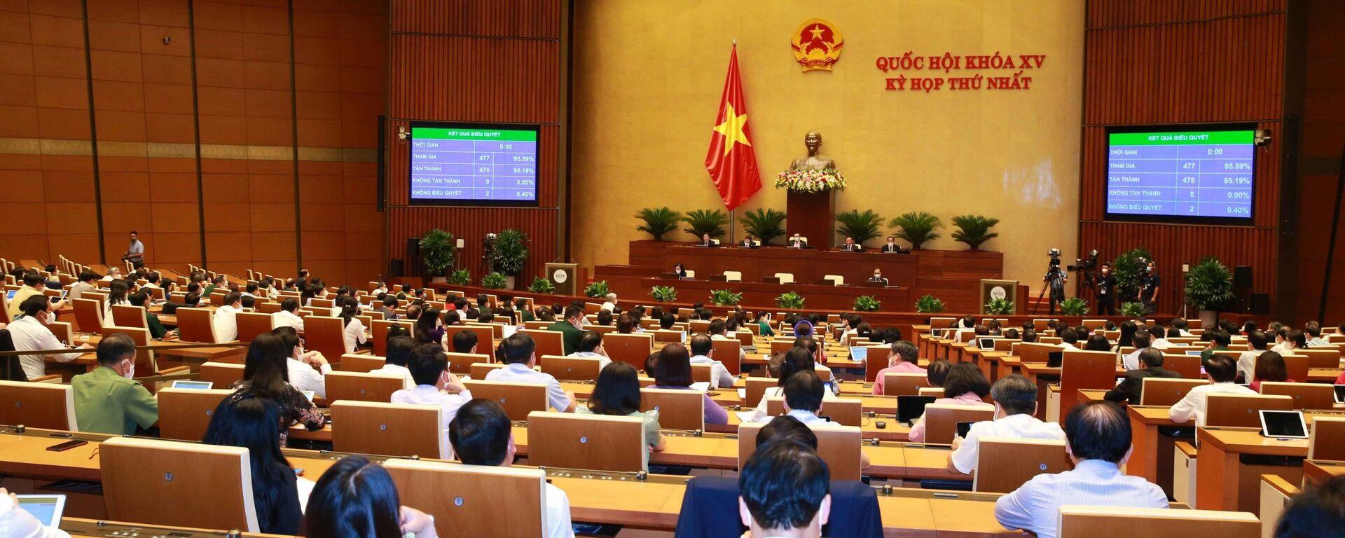 Quốc hội thông qua Nghị quyết về Kế hoạch phát triển kinh tế - xã hội 5 năm 2021-2025 - Sputnik Việt Nam, 1920, 27.07.2021