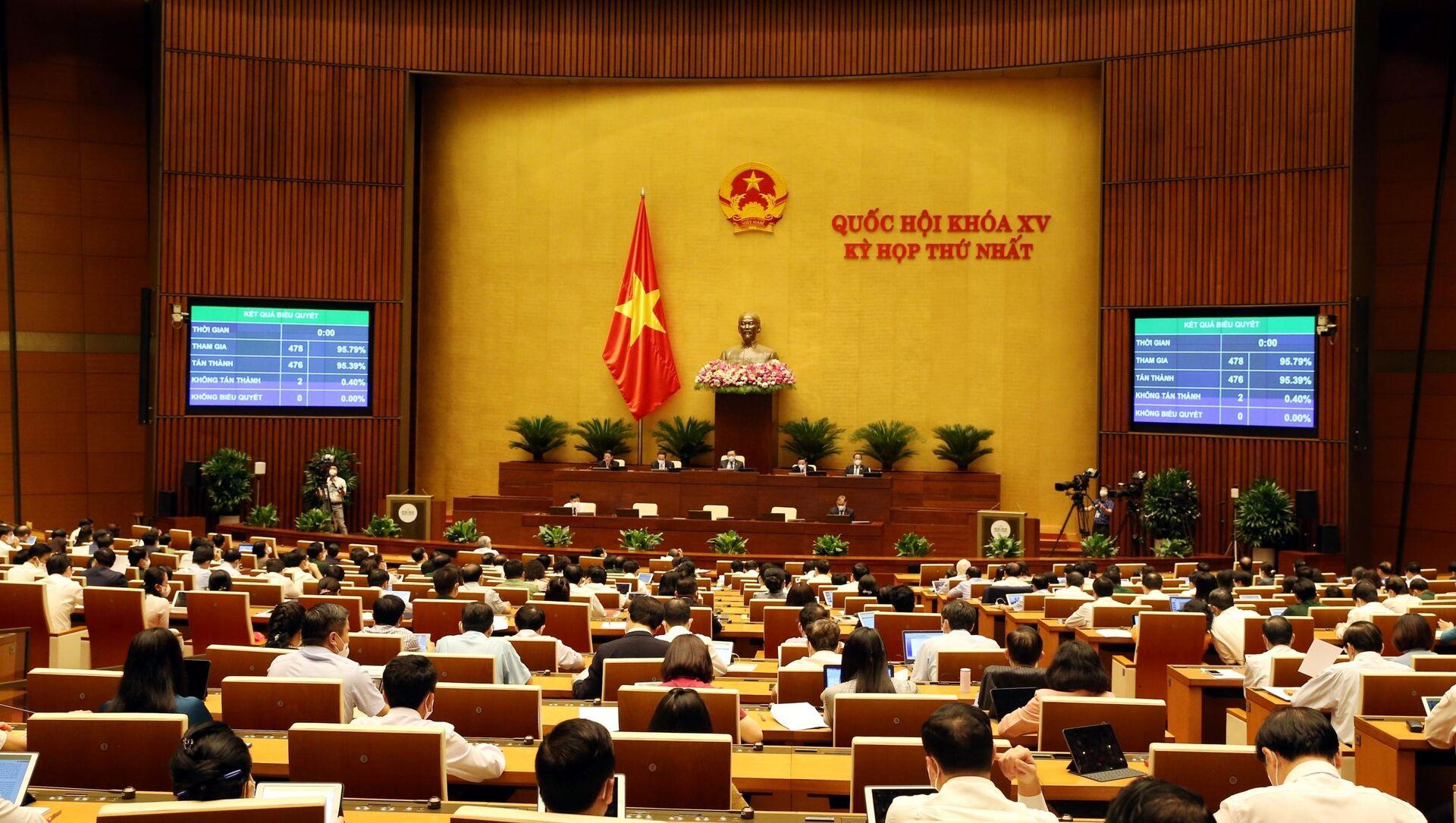 Kỳ họp thứ nhất, Quốc hội khóa XV - Sputnik Việt Nam, 1920, 28.07.2021