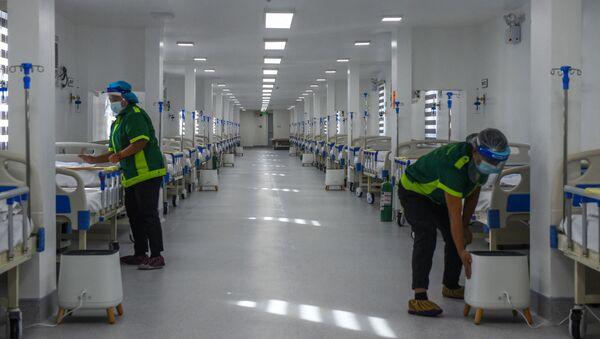 Bệnh viện dã chiến dành điều trị cho người mắc coronavirus ở Manila, Philippines - Sputnik Việt Nam