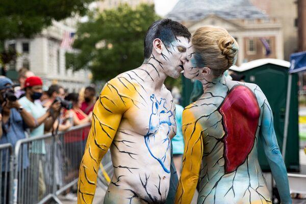 Ngày hội vẽ lên người (Bodypainting) hàng năm ở New York, Hoa Kỳ - Sputnik Việt Nam