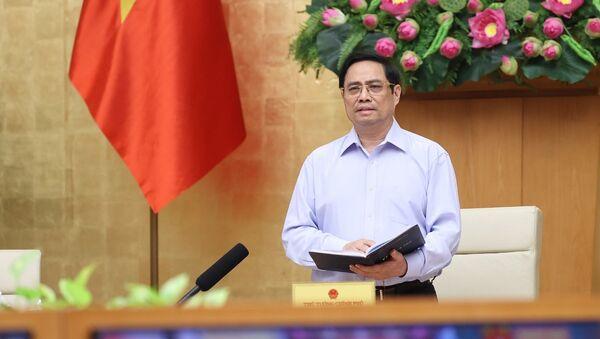 Thủ tướng Phạm Minh Chính phát biểu kết luận hội nghị - Sputnik Việt Nam