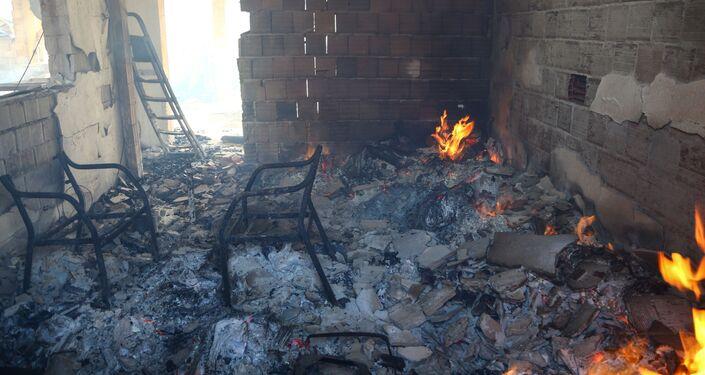 Nhà bị thiêu rụi trong trận cháy rừng ở Managavt, Thổ Nhĩ Kỳ